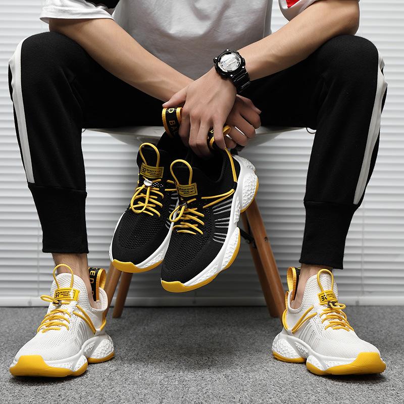 Giày thể thao nam phối màu vàng nổi bật cực chất – G135