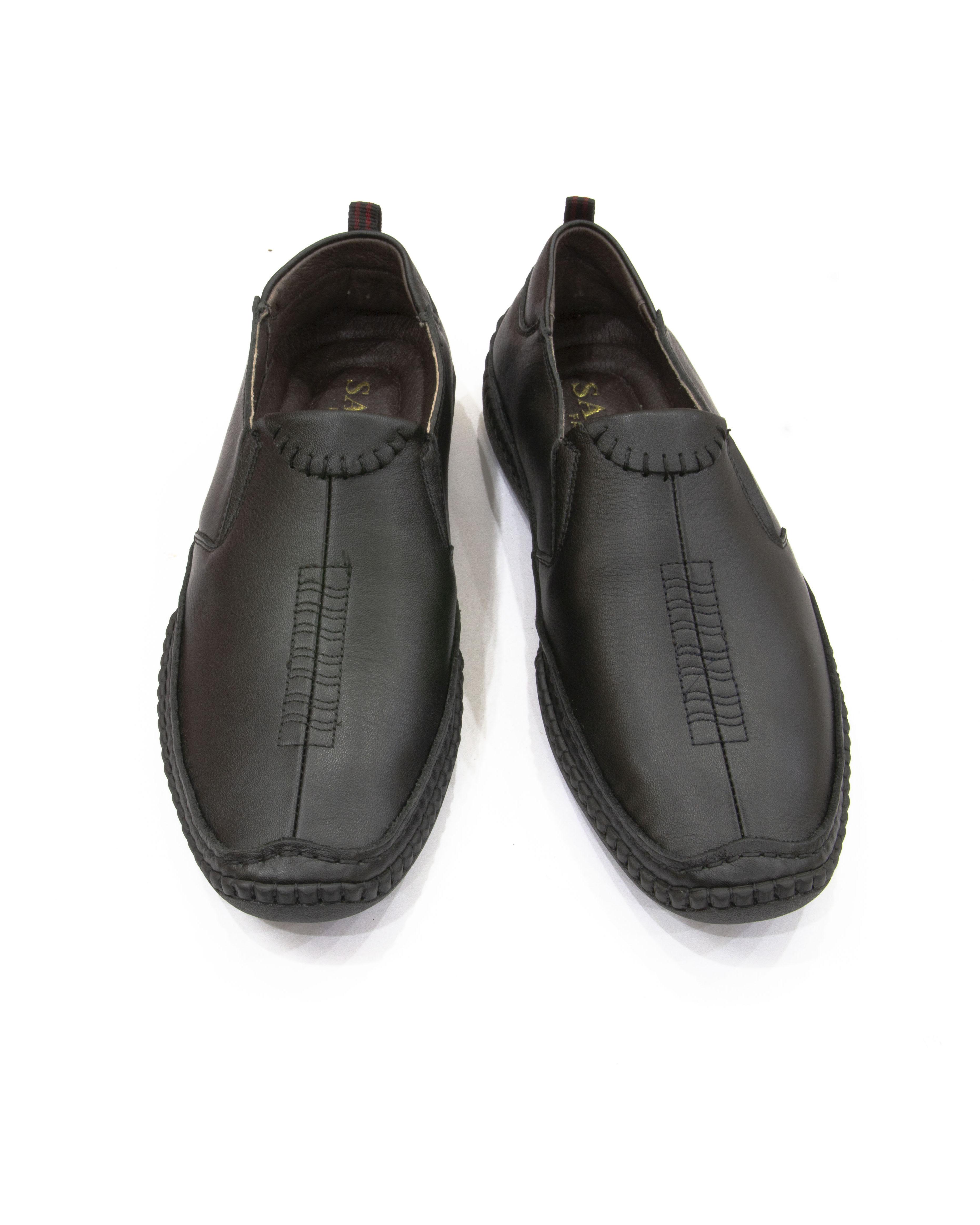 Giày lười da nam cao cấp, đế cao su nguyên chất GD01